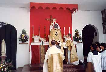 Fr. Black offers first solemn high mass in the Philippines