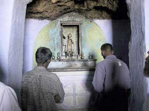 Inside grotto