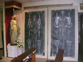 negative of holy shroud