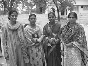 Swarna with Indian women